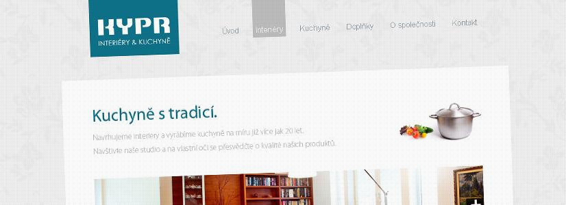 Tvorba webové prezentace plzeňského výrobce kuchyní