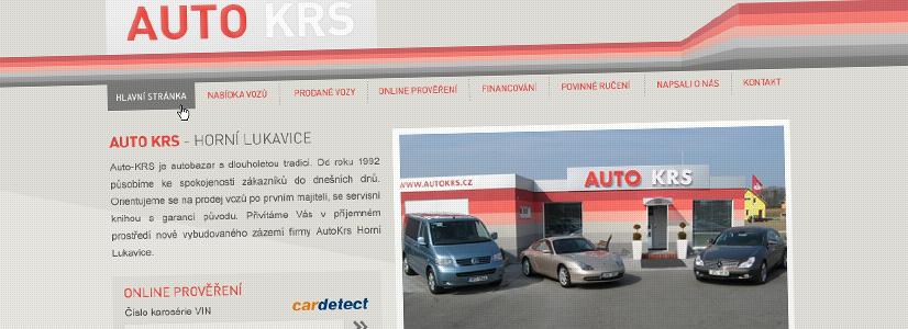 Tvorba webových stránek pro autobazar AutoKRS