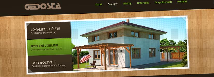 Tvorba www stránek pro stavební firmu Gedosta